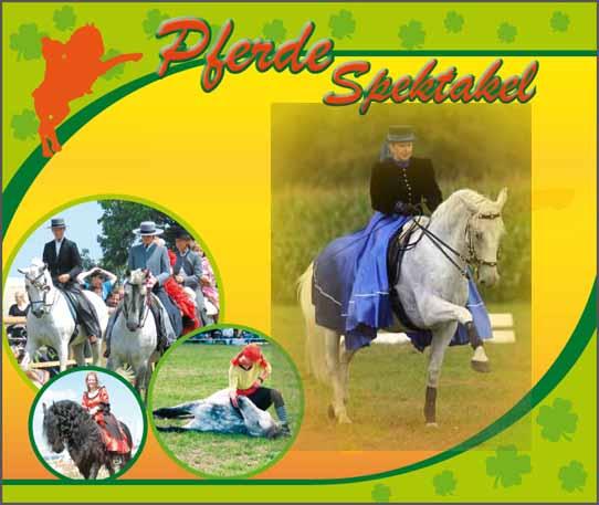 Roggen im Hintergrund Pferde